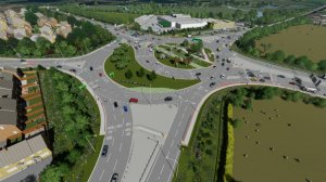 Chowns Mill Roundabout improvement works video