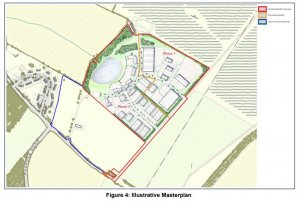 Planning application for an industrial park near Chelston Rise