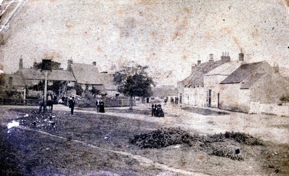 Early image of the Green in Chelveston