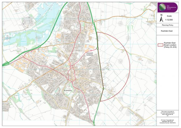 Outline plan of Rushden SUE
