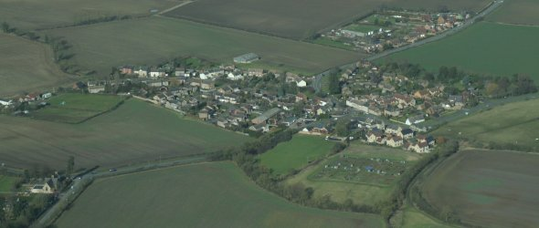 View of Chelveston from the air.